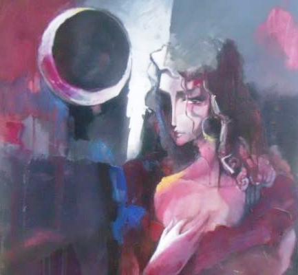 من لوحات المعرض