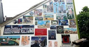جدار منزل في بلجيكا - موقع قلم رصاص