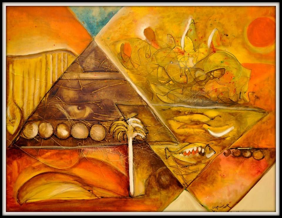 لوحة الفنان حمود السليمان
