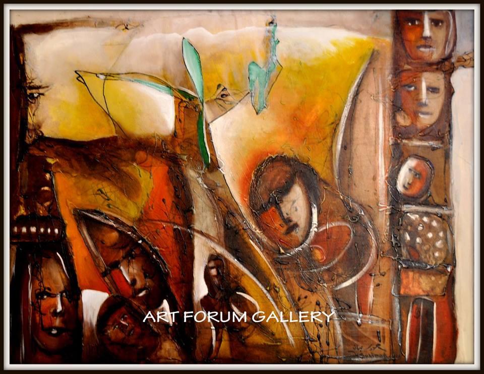 لوحة للفنان حمود السليمان
