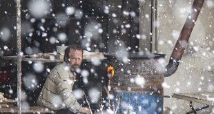 Snowfall in Syria