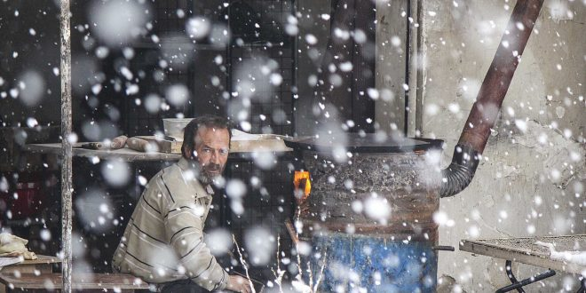 Snowfall in Syria