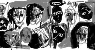 لوحة للفنان غيلان الصفدي